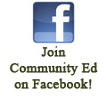 Join Community Ed on Facebook